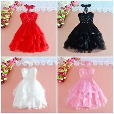 Sweet Lolita Beading Lace Asymmetrical Bubble Dress Gothic Princess Commuter#T62