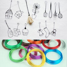1mm 5M Aluminum Wrap Craft Beading Wire DIY Colorful Childs Jewelry Gifts Making