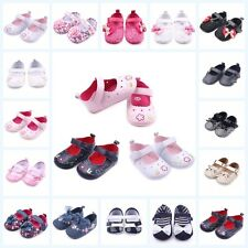 Baby Girls Infant Bowknot Shoes PU Leather Shoes Soft Cotton Crib Shoes 0-12M