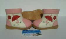 Girls Pink Leather Boots for Toddlers Kids for Children 1 - 5years old
