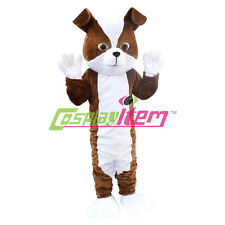 Plush Dog Mascot Costume Adult Unisex Cartoon Birthday Party Mascot Costume