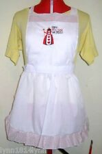 KIDS PICTURED QUEEN OF HEARTS COSTUME APRON Black/White or Red Made to order