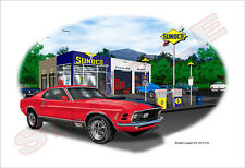 1970 Ford Mustang Mach1 Muscle Car Art Print - 10 colors