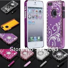 FOR iPhone 5S/5SE Rhinestone Bling Hard Case Plactic Cover Hearts Flower Styling