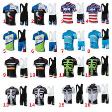 4XL-6XL Super Size Bike Cycling Jersey Racing Short Sleeve Jersey+Bib Pants Set
