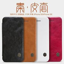 Nillkin Qin PU Leather Flip Case Cover For Apple iPhone SE / iPhone 5S