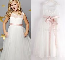 Flower Girl Princess Dress Toddler Baby Wedding Party Pageant Tulle Dresses 2-12