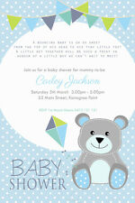 Personalised Baby Shower Invitation Teddy Bear