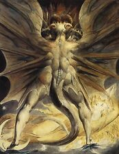 Great Red Dragon and the Woman Clothed with the Sun 1805 by William Blake POSTER