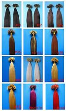 "NAIL TIP HUMAN HAIR EXTENSIONS 100S 16""18""20""22""24""26"" straight curly body wavy"