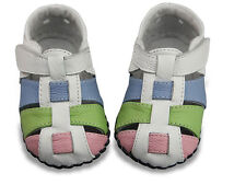 Toddle Baby girl sandals leather shoes soft soles Crib Shoes Size 0-18 months