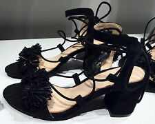 ZARA HIGH HEEL LEATHER LACE-UP SANDALS 36-41 Ref.  1540/101