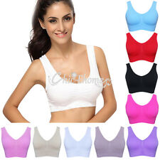 New Womens Seamless Padded Bra Leisure Crop Top Vest SPORTS BRAS Comfort Comfy