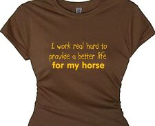 gift horse lover quotes t shirt funny message t shirt girls pony riding shirt