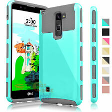ShockProof Hybrid Dual Layer Armor Case Cover for LG G Stylo 2 LS775 / Stylus 2