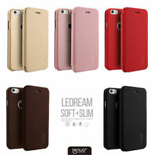 PU Leather Soft TPU Back Shell Flip Case Cover For Apple iPhone 5 5s 6 6s Plus