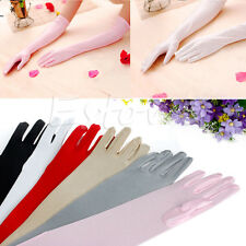 1 pair Long Gloves Satin Opera Wedding Bridal Party Prom Sunscreen Glove Fashion