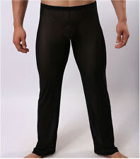 Exotic Men's Sexy Lingerie See Through Gauze Long Trousers Loose Underwear Pants