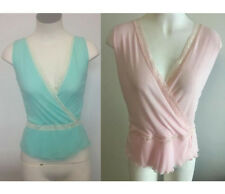 NEW Ladies Blue or Pink Sheer Top with Lace - Top Girl Brand Size 10,12,16