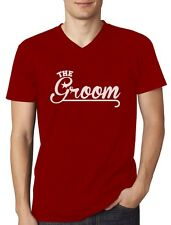 The Groom - Wedding Bachelor Party Gift Idea Funny V-Neck T-Shirt Novelty Gift