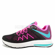 WMNS Nike Zoom Winflo 3 [831562-004] Running Black/Clear Jade-Pink-White