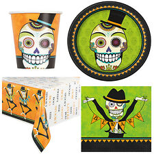 Day of the Dead Party Set for 8 Halloween Mexican Theme Party Skeleton Dance