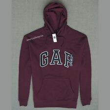 GAP NEW  MENS ARCH LOGO SWEATSHIRT HOODIE,NWT,MAROON RED,WARM & COZY,PULL OVER,