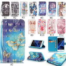 Cute Patterned Leather Card Holder Wallet Case Stand Cover For iPhone Samsung LG