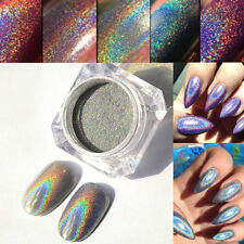 Holographic Laser Powder Nail Glitter Rainbow Pigment Manicure Chrome Pigment