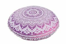 Indian Large Floor Pillows With Insert Cotton Ottoman With Insert Ethnic Cushion
