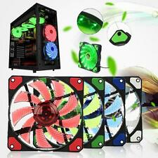 15 LED Light Neon Quite 120mm DC 12V 4Pin PC Computer Case Cooling Cool Fan Mod
