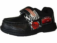 Disney Boy's Cars Lightning McQueen Velcro Black School Shoes