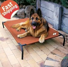 Large Dog Bed Elevated Raised Pet Cot Outdoor Portable Camping Steel Frame Mat