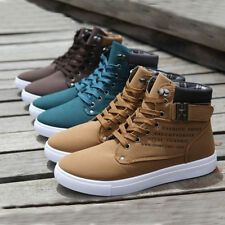 New Fashion Men's Casual Shoes Martain Boots Lace up High Top Leisure Shoes