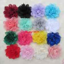4'' Lot Wholesale DIY Baby Girls Hair Accessory Chiffon flower Corsage No Clip