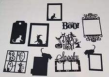Halloween Frame Die Cut Set Witch Cat Boo Spooky & More