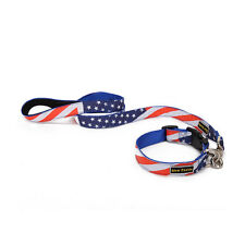 USA Canada Flag Dog Collar with Dog Lead Leash for Puppy Cat Pet Supplies 120 CM