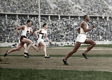 Jesse Owens 1936 Olympics Track Lee Orr Karl Neckermann color photo-I1008