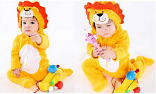 Baby Infant Kids Toddler animal onesie lion Winter Romper Jumpsuit