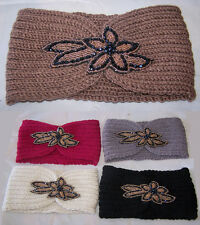 Jeweled Knitted Head Bands/ Ear Warmers Women/Teenagers  (HB0467  ^)