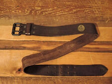 POLO RALPH LAUREN DOUBLE RL RRL STAMPED WAFER ROLLER BUCKLE LEATHER BELT $185+