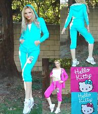 NWT Sanrio Hello Kitty Signature Cotton Hoodie and Pants Suit S,M,L 2 colors