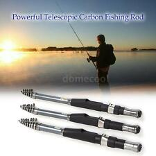 Telescopic Fishing Rod Spinning Fish Hand Tackle Sea Carbon Fiber Pole DM T2U9