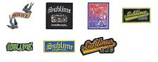 Sublime Sew On Patch/Patches NEW OFFICIAL. Choice of 7 Designs
