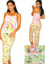 NWT Sanrio Hello Kitty Soft cotton PJ Capri pants with front pocket<M<L,2 prints