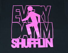 """NEW MEN  FUNNY T - SHIRT TEE  LMFAO EVERY DAY I'M SHUFFLIN PINK """" *ALL SIZES"""
