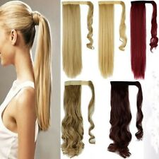 US 100% Real New Clip In human Hair Extension Pony Tail Wrap Around Ponytail LK