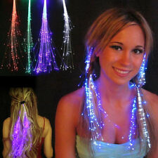 5-pack Light Up Fiber Optic LED Costume Hair Barrette Clip Braid Party halloween