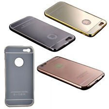 NEW Luxury Aluminum Ultra-thin Mirror Metal Case Cover Black PK
