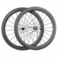 Ultra Light 700C 60mm Clincher Road Bike Carbon Wheels Cycling Bicycle Wheelset